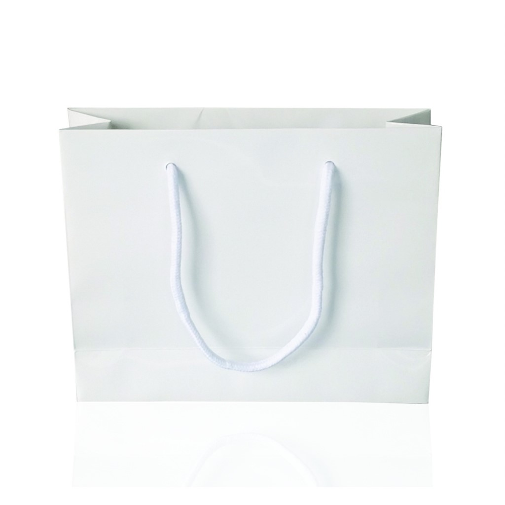 Paper Bag, paper, White finish