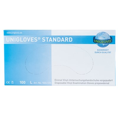 Gloves Vinyl, Transparent, Large (8-9)