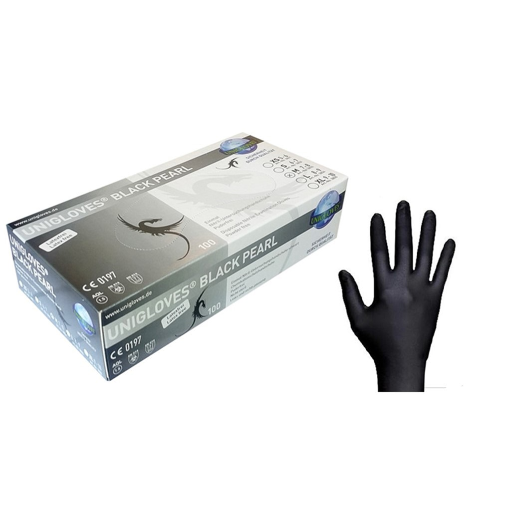 Gloves Nitrile, Black, X-Small(5-6)