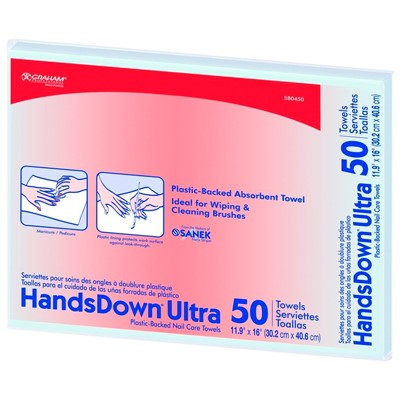 Handsdown Nail Towels, coated polybacked