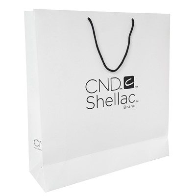 Paper Bag, CND, White, XL Large New