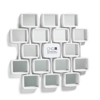 CND Shellac Wall Rack, Curved, White**