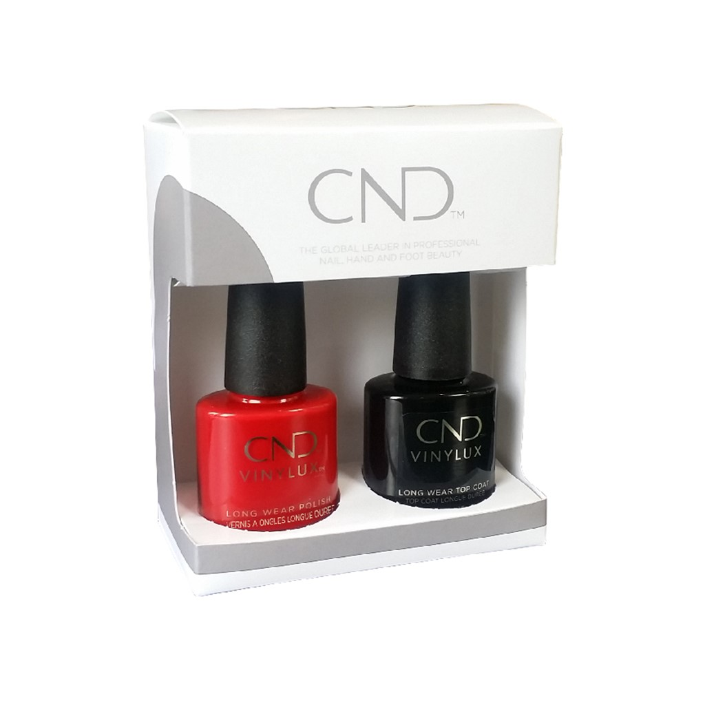 Vinylux Rouge Red + Top Coat Duo Box**