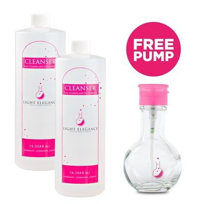 Cleanser, Nail Surface + Free Pink Pump