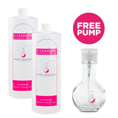 Cleanser, Nail Surface + Free White Pump