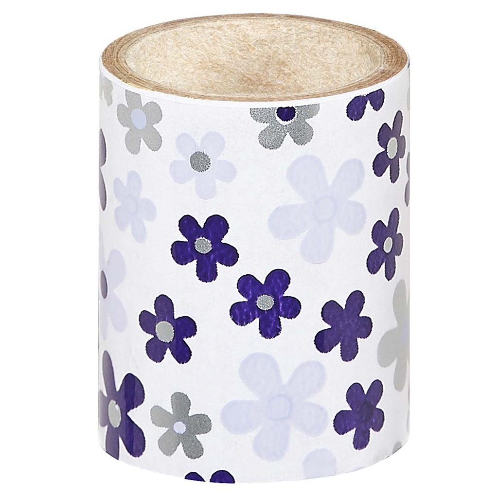Nail Foil, Purple Flowers **