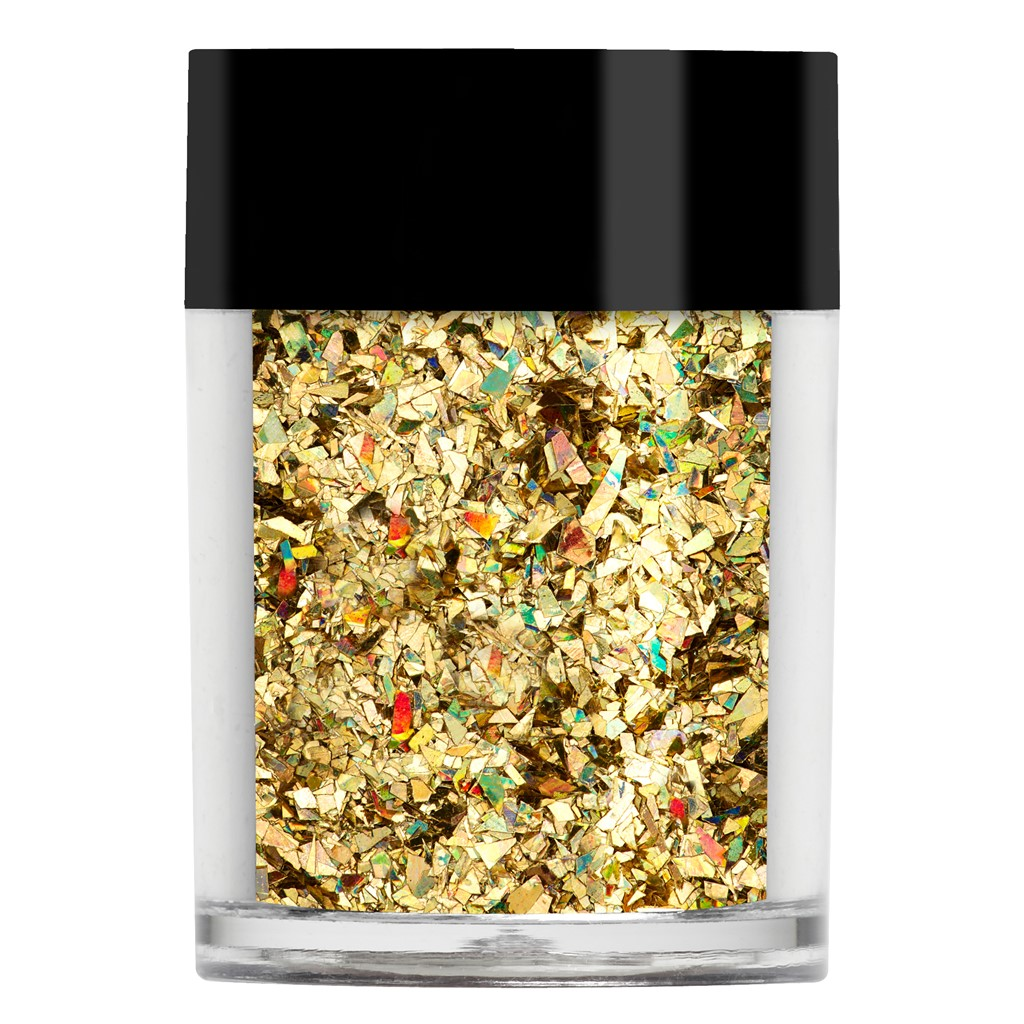 Crushed Ice Glitter, Gold Holographic*
