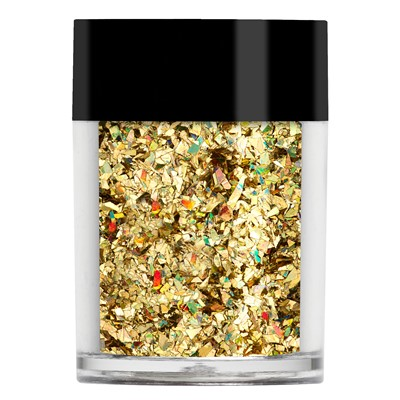 Crushed Ice Glitter, Gold Holographic
