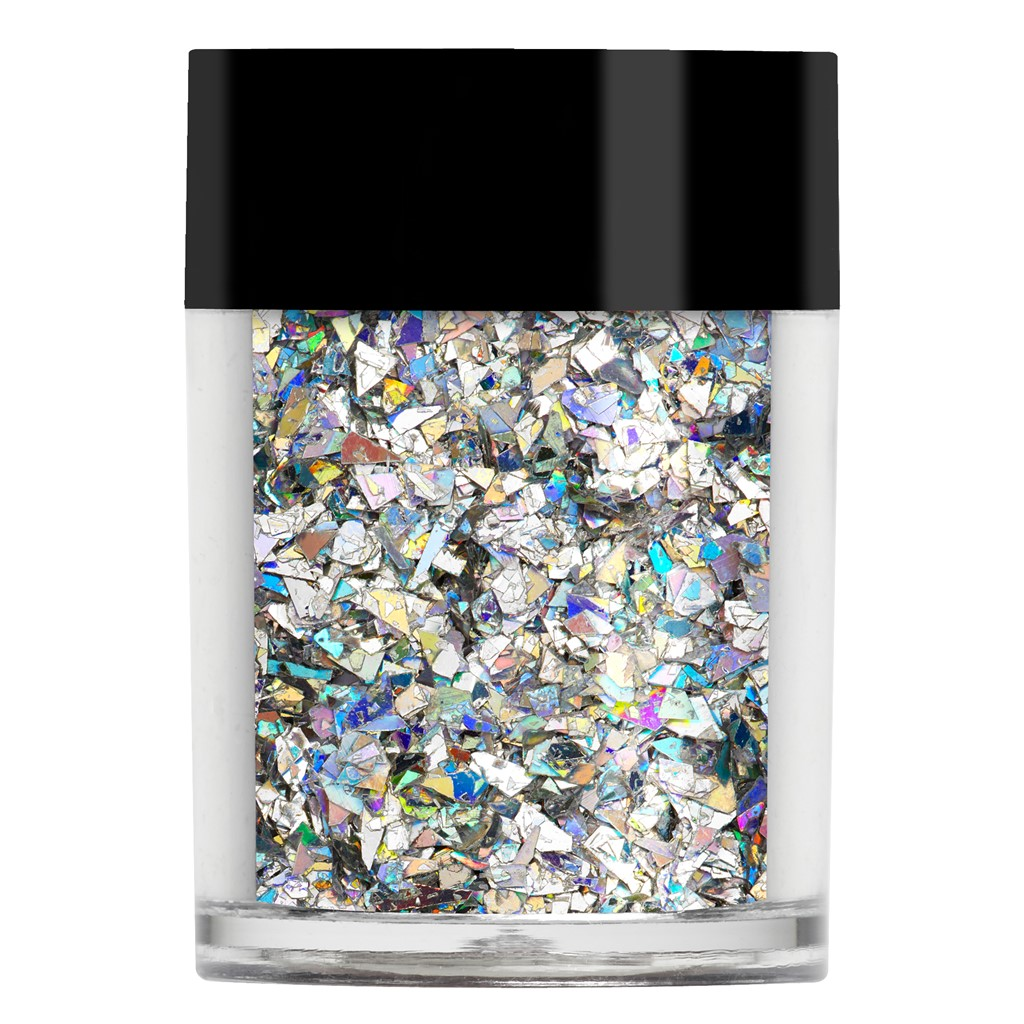 Crushed Ice Glitter, Silver Holographic*