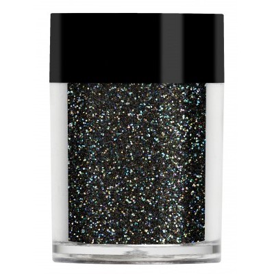 Iridescent Glitter, Rainbow Black