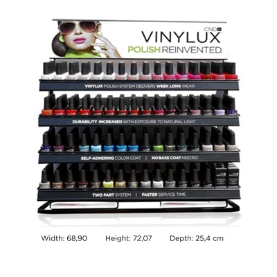 Display, CND Vinylux Store Rack Single