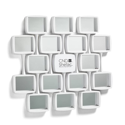 Shellac Wall Rack, White, Curved NEW
