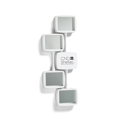 CND Shellac Wall Rack, White, Curved