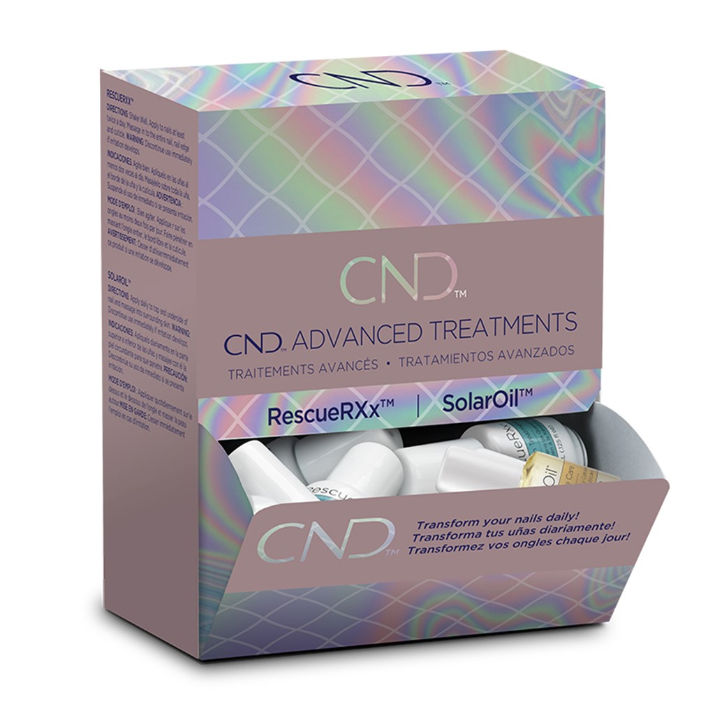 CND Essential SolarOil+Rescure Display**