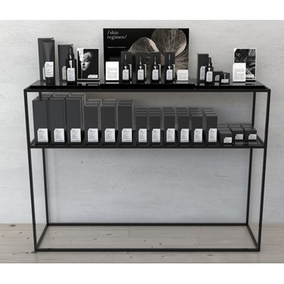 Skin Regimen, Black Console Table**