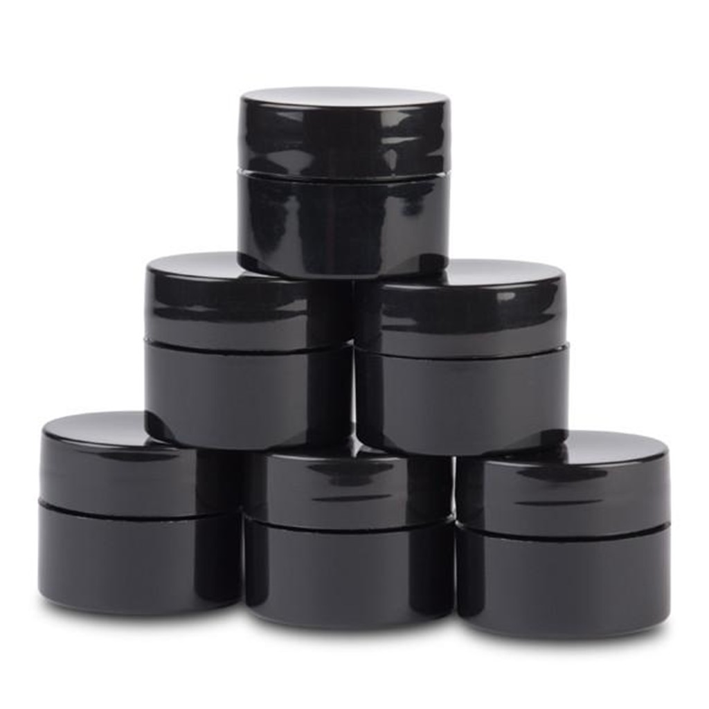 Jars, Black Mixing Containers, Gels