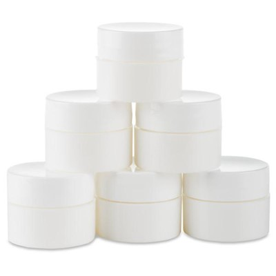 Jars, White Mixing Containers