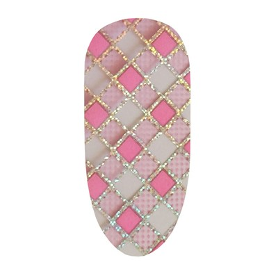 Foil, Pink Checkers