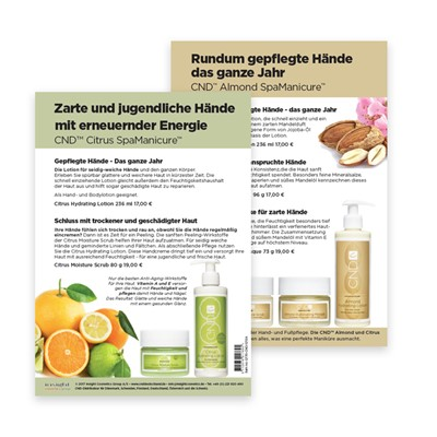 Flyer, CND Citrus & Almond