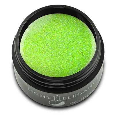 Electric Lime Glitter Gel