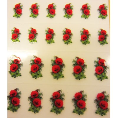 Decal Flower, Red Ranunculus*
