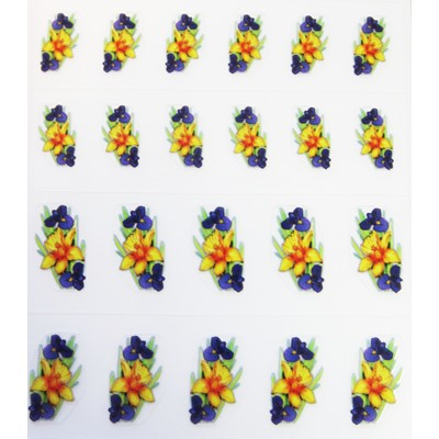 Decal Flower, Daffodil & Iris*