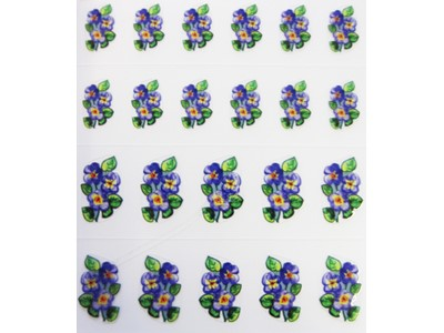 Decal Flower, Viola Flower*