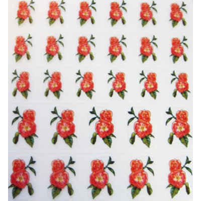 Decal Flower, English Rose*