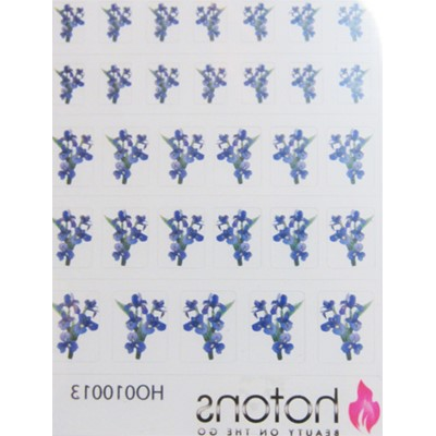 Decal Flower, Violet Iris Flower*