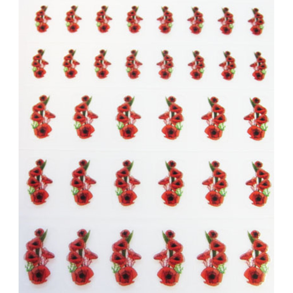 Decal Flower, Red Poppy