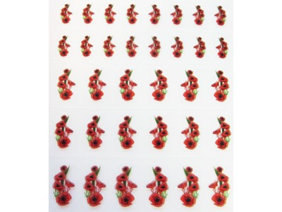 Decal Flower, Red Poppy*