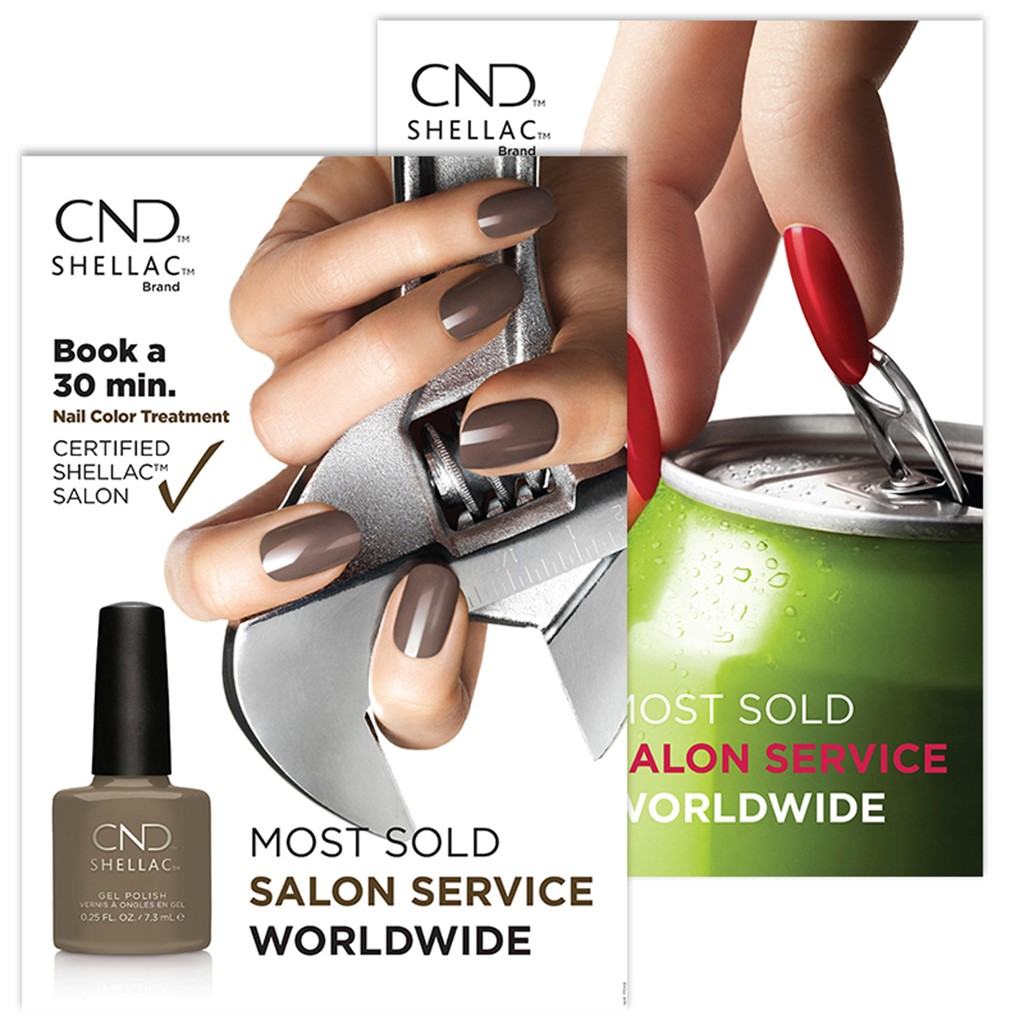Poster, CND Shellac Rubble & Wildfire