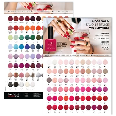 Color Chart, Shellac Q3 2019