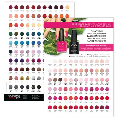 Color Chart, Vinylux Polish Q3 2019