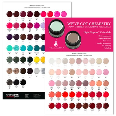 Color Chart, Light Elegance, Color gel