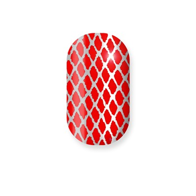 Red w/Silver Fishnet Toes Minx*