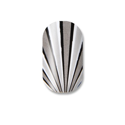 Black Grey & White Stripes Toes Minx*