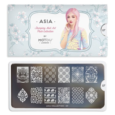 Stamping Plate Asia 07, MOYOU*