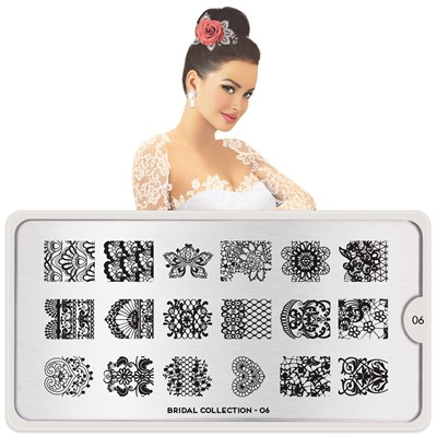 Stamping Plate Bridal 06, MOYOU