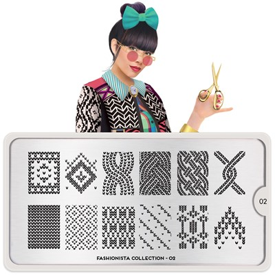 Stamping Plate Fashionista 02, MOYOU