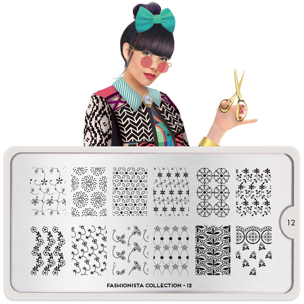 Stamping Plate Fashionista 12, MOYOU