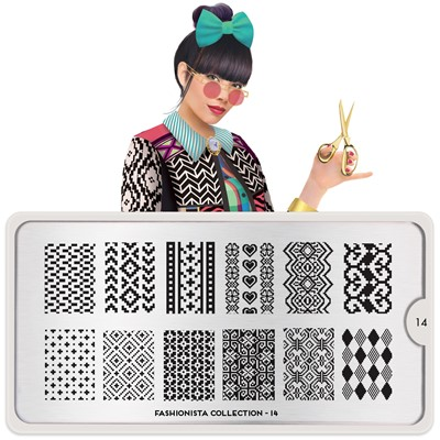 Stamping Plate Fashionista 14, MOYOU*