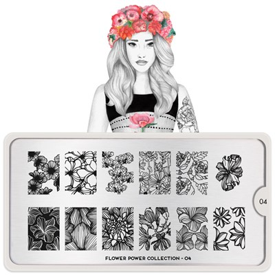 Stamping Plate Flower Power 04, MOYOU