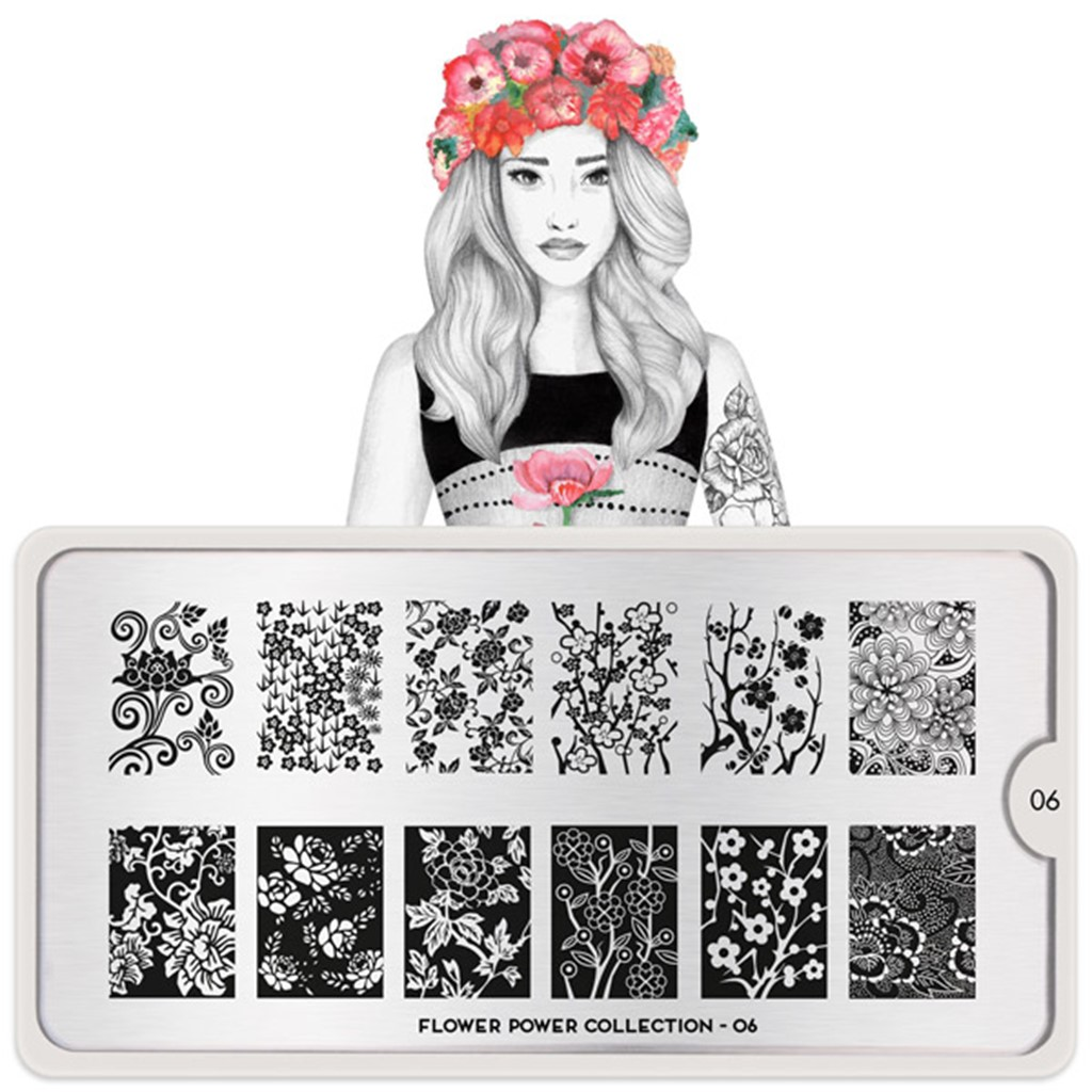 Stamping Plate Flower Power 06, MOYOU