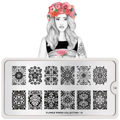 Stamping Plate Flower Power 14, MOYOU*