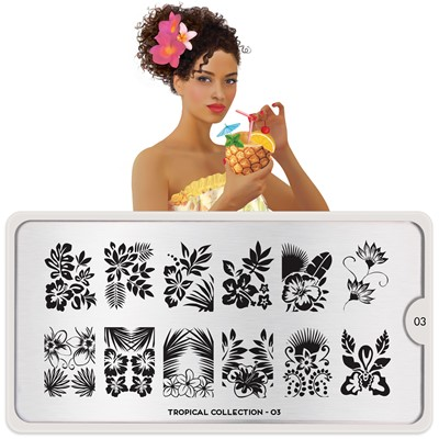 Stamping Plate Tropical 03, MOYOU*