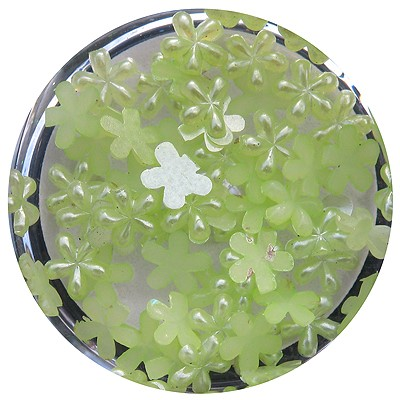 Pearl Shape, Flower, Light Green*