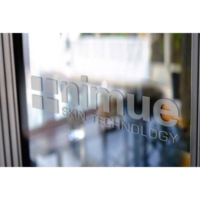 Nimue Window Decal w. Silver Logo