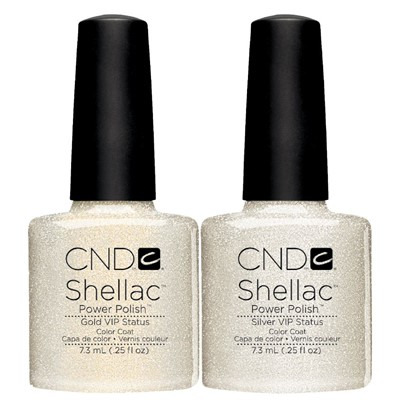 CND Shellac Gold & Silver VIP Duo Pack