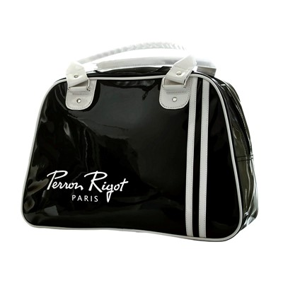 Bag, Perron Rigot, black w white handle